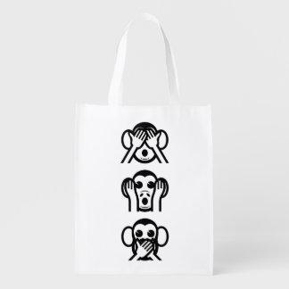 3 singes sages Emoji Cabas Épicerie