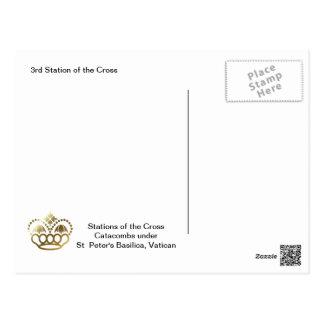 3. Station des Kreuzes Postkarte