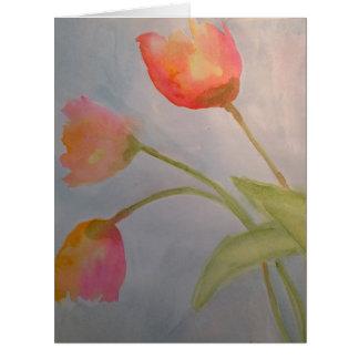 3 Watercolor-Blumen-Gruß-Karte durch Julie Karte