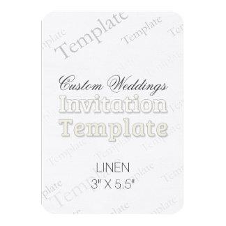 """3"""" x 5,5"""" faire-part de mariage fait sur commande carton d'invitation 8,89 cm x 12,70 cm"""
