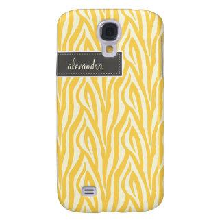 3 Zebra Pern (Gelb) Galaxy S4 Hülle