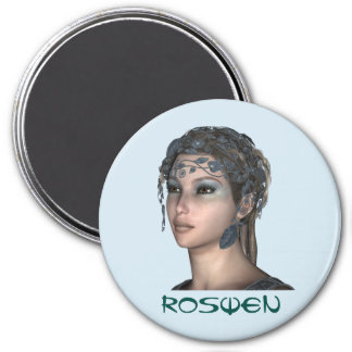3 Zoll-runder Magnet; Feenhafte Sammlung: Roswen Runder Magnet 7,6 Cm