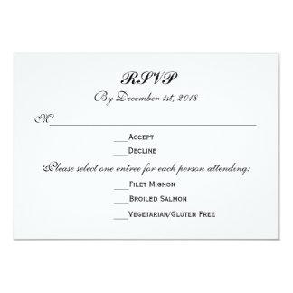3 Zutritt-Wahlen UAWG, das Warteantwort Wedding 8,9 X 12,7 Cm Einladungskarte