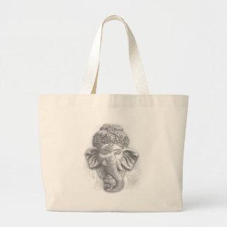 3d Lord Ganesha - OM Jumbo Stoffbeutel