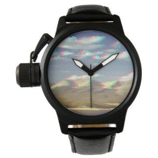 3D Mountain Clock Armbanduhr