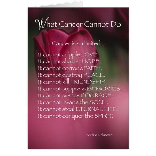 4021 welcher Krebs nicht tun kann Grußkarte