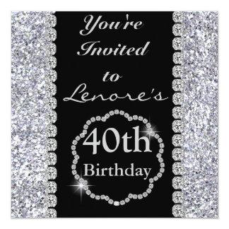 40. BLING Geburtstags-Party Einladung
