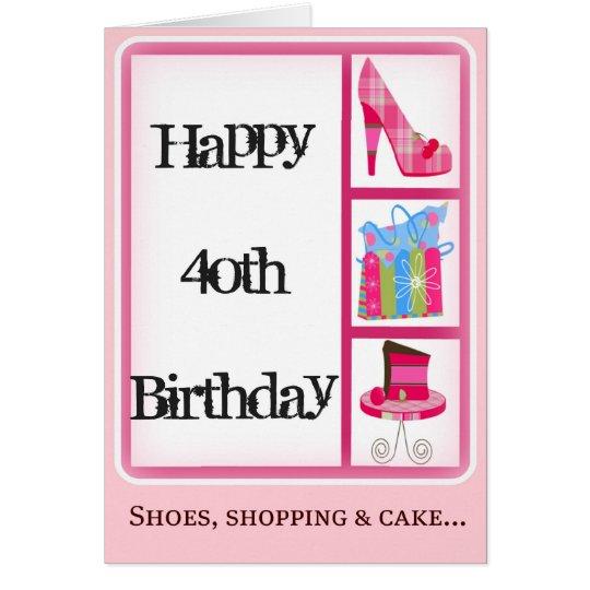 40. der Geburtstags-Karte der Diva für Frauen Karte