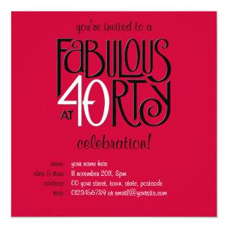 40 fabuleux invitation rouge blanche noire de