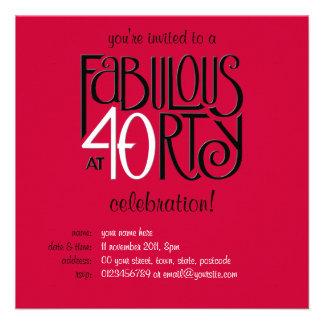 40 fabuleux invitation rouge blanche noire de l an