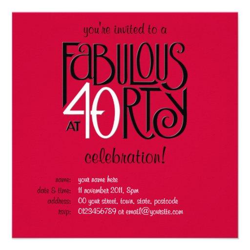 40 fabuleux invitation rouge blanche noire de l'an