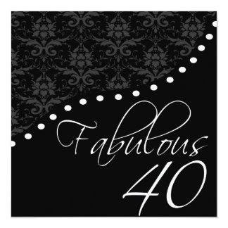 40 fabuleux ont personnalisé la fête carton d'invitation  13,33 cm