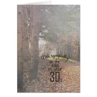 40. GeburtstagBeileid im nebeligen Holz Grußkarte