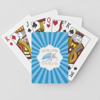 40. Geburtstags-Engel mit einer Haltung Spielkarten