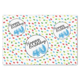 40. Geburtstags-festliche bunte Seidenpapier