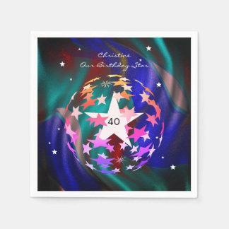 40. Geburtstags-Kugel der Sterne Serviette