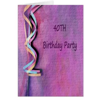 40. Geburtstags-Party Karte