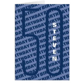 40. Geburtstags-personalisiertes Blau Karte