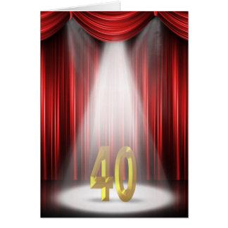 40. Geburtstags-Scheinwerfer Karte