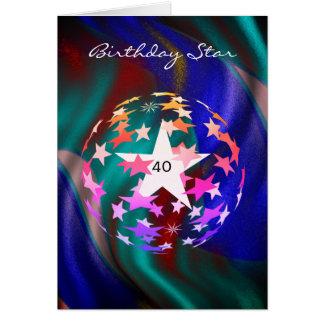 40. Geburtstags-Stern (addieren Sie Fotografie) Karte