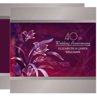 40. Hochzeits-Jahrestags-Party Einladungen