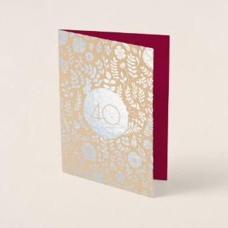 40. Hochzeitstag-Gruß-Karten Folienkarte