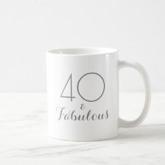 40 und fabelhafte Geburtstags-Geschenk-Tasse Kaffeetasse