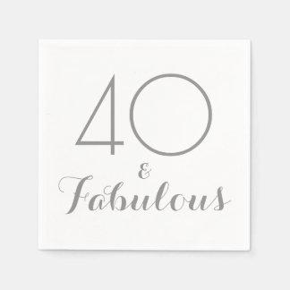 40 und fabelhafte Party-Servietten Servietten