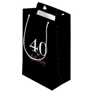 40 und fabelhafter Geburtstag Kleine Geschenktüte
