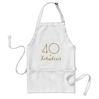 40 und fabelhafter Goldtext-Geburtstag Schürze