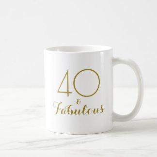 40 und fabelhaftes 40. tasse