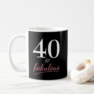 40 und fabelhaftes Geburtstags-Geschenk Kaffeetasse