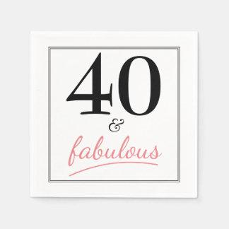 40 und fabelhaftes serviette