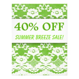 40 WEG von der Verkaufs-Flyer-Grün-weißen Spitze Flyer