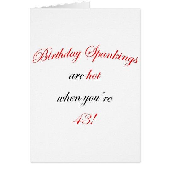 43 Geburtstags-Prügel Karte
