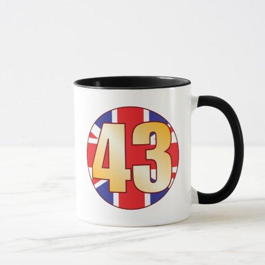 43 Großbritannien-Gold Tasse