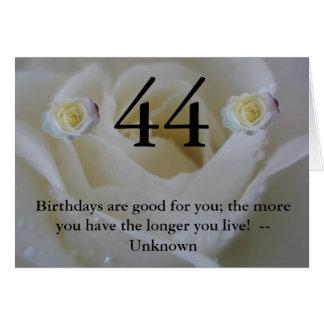 44. Geburtstag Karte