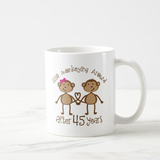 45. Hochzeitstag-Geschenke Kaffeetasse
