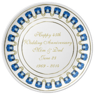 45. Hochzeitstag-Porzellan-Platte Teller Aus Porzellan