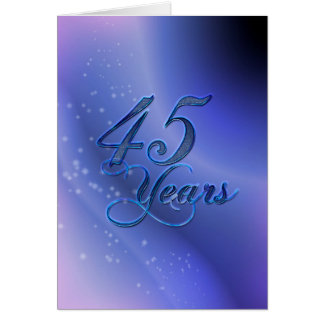 45 Jahre (Jahrestag) Grußkarte
