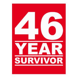 46-jähriger Überlebender Postkarte