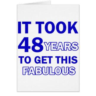 48 Geburtstags-Entwurf Karte