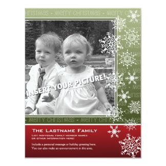 4,25 x 5,5 doppelseitige Feiertags-Foto-Karten - 10,8 X 14 Cm Einladungskarte