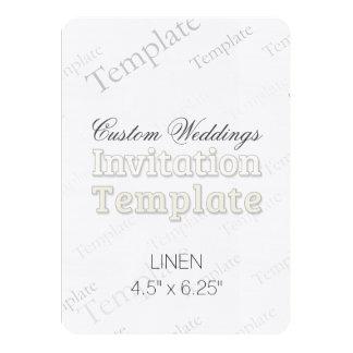 """4,5"""""""" faire-part de mariage x6.25 fait sur carton d'invitation  11,43 cm x 15,87 cm"""