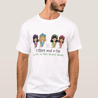 4 Chics und ein Katzen-Shirt T-Shirt