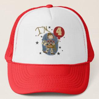 4. Cowgirl-Geburtstags-T-Shirts und Geschenke Truckerkappe