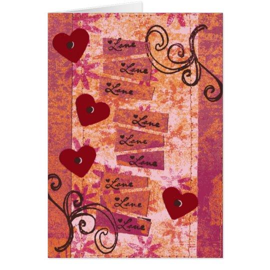 4 Herzen 9 Lieben Grußkarte