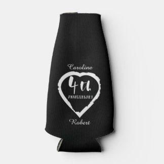 4. Hochzeitstag-Leinen Slik Flaschenkühler