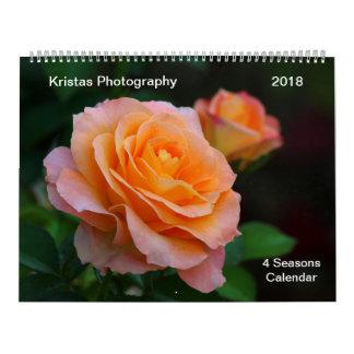 4 Jahreszeit-Kalender 2018 5m Abreißkalender