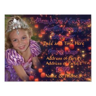 4-jährig-Prinzessin Birthday Invitations 10,8 X 14 Cm Einladungskarte